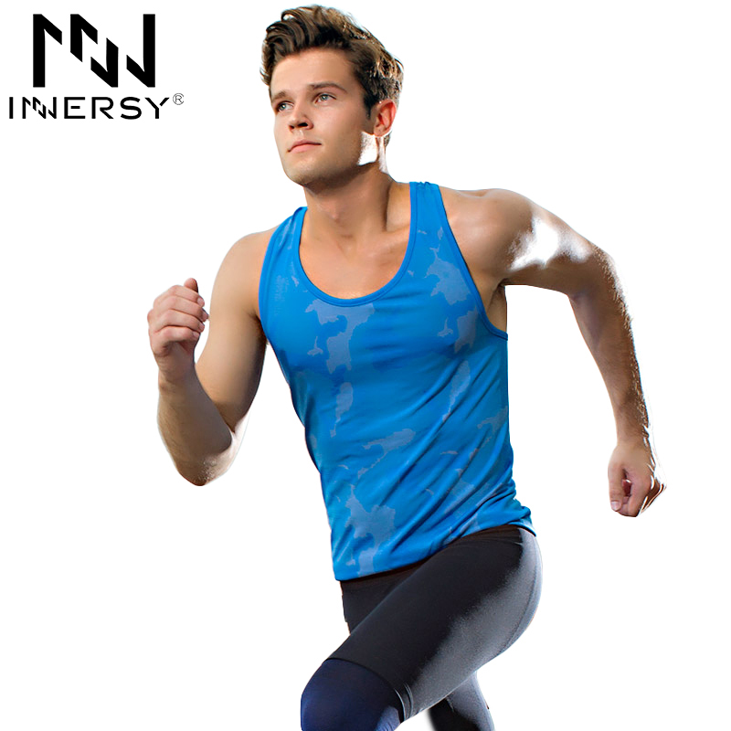 aca93cf7e5437d Innersy New arrival Fitness Mens sports Sleeveless Shirt running Vests quick -dry Tops Tank Top Men Bodybuilding Clothing L363Y