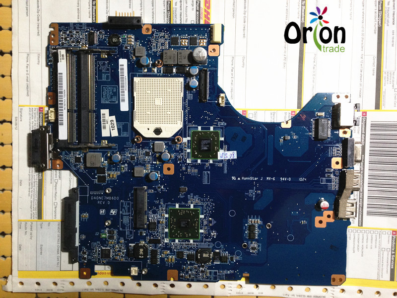 A1784741A DA0NE7MB6D0 REV:D laptop mainboard For sony VPCEE Motherboard Working perfect free shipping