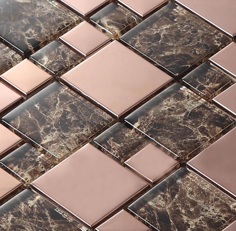 ∞Cristal clásico mosaico HMGM2017 para cocina backsplash azulejo ...