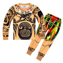 AmzBarley Moana Maui Costume 2pcs set Pajamas Sleepwear Clothes Halloween Dress Up Cosplay nightshirt nightgown for little boys