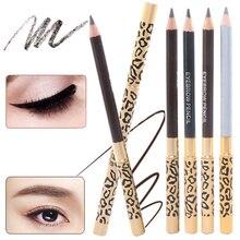 1 шт., Леопардовый женский карандаш для бровей, водонепроницаемый, черный глаз, коричневый карандаш с кистью, макияж, подводка для глаз, подводка для глаз, инструменты для макияжа