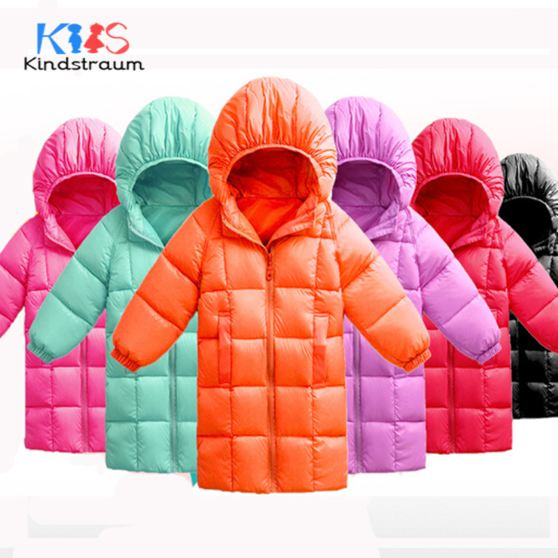 Kindstraum 2017 New Casual Winter Kids Down Jacket Hooded Solid Boys Girls Brand Style Jacket Duck Down Children Outwear, MC861 kindstraum 2017 new kids winter warm jacket hooded for boys