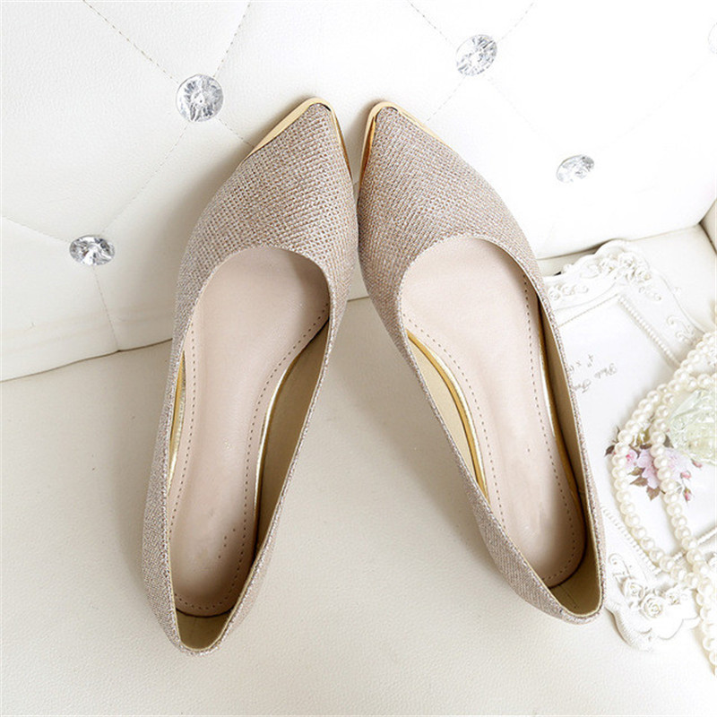 2017 New Fashion Trend Women Shinning Flat Shoes Slip On ...