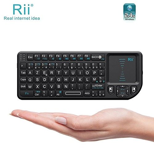 Image 2 - Original Rii Mini X1 French(Azerty) Mini 2.4GHz Wireless Keyboard Air Mouse with TouchPad for Android TV Box/Mini PC/Laptop-in Keyboards from Computer & Office