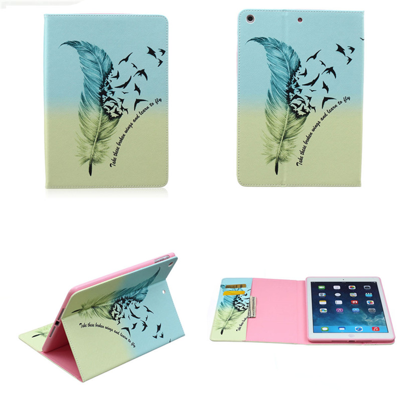 BF-Multi Color Flip PU Leather Stand Card Wallet Case Cover Protector For New iPad Air 1 iPad 5 Tablet Book Cases