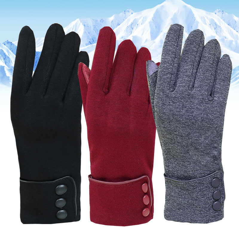 cc21339dead66 Ladies Gloves Women Winter Wrist Touching Screen Gloves Female Elegant Warm  Cotton Mittens Women Driver s Gloves Mittens eldiven