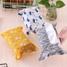 Creative Modern Style Cotton Linen Fabric Tissue Box Living Room Car Home Furnishing decoration Portable Paper Storage Holder