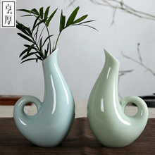 Free shipping Vintage Chinese Wind Home Decoration Ceramic Vase Home Office Decor (A,B,C,D)