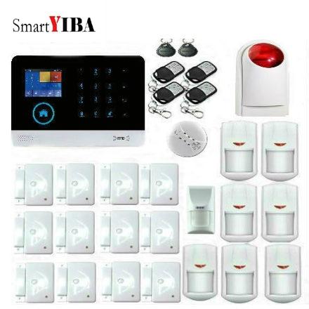Smartyiba WI FI 433 мГц Беспроводной GSM сигнализация с ПЭТ иммунной детектор движения PIR Сенсор приложение Управление пожара/пожарная сигнализация