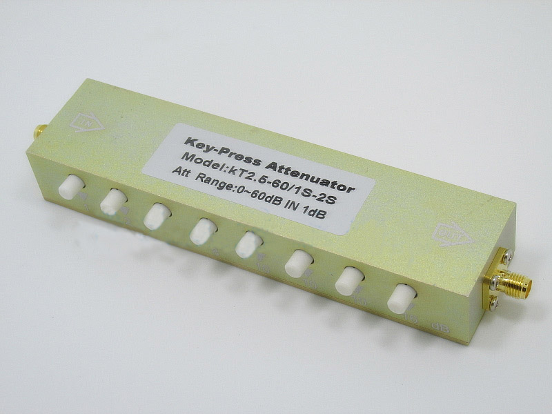 0 ~ 60dB Adjustable Key-Press SMA RF step Attenuator Stepping 1dB DC-2.5GHz 5w sma adjustable attenuator step attenuator button attenuation 0 30db dc 3ghz