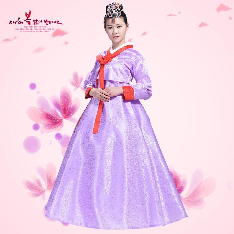 Uus Aasia Hanbok Ametlikud kleidid Korea traditsioonilised riided Naiste kleidid Rõivad Tantsukleidid Tants Peformance kostüüm