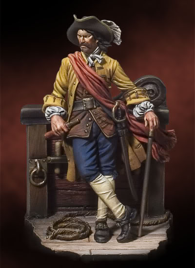 New Unassembled 1/ 32 54mm Captain William Kidd, 1689