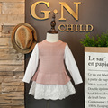 DFXD New 2017 Baby Girls Long Sleeve Knitted Blouse Sweatshirt Spring Casual Children Clothing Girls Cotton Top Kids Pullover