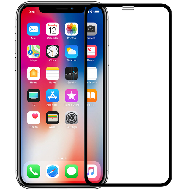 on sale 2a06c 5296d US $13.99 30% OFF|For Apple iphone X screen protector Nillkin XD CP+MAX  glass film cover full screen for iphone XS protective glass film-in Phone  ...