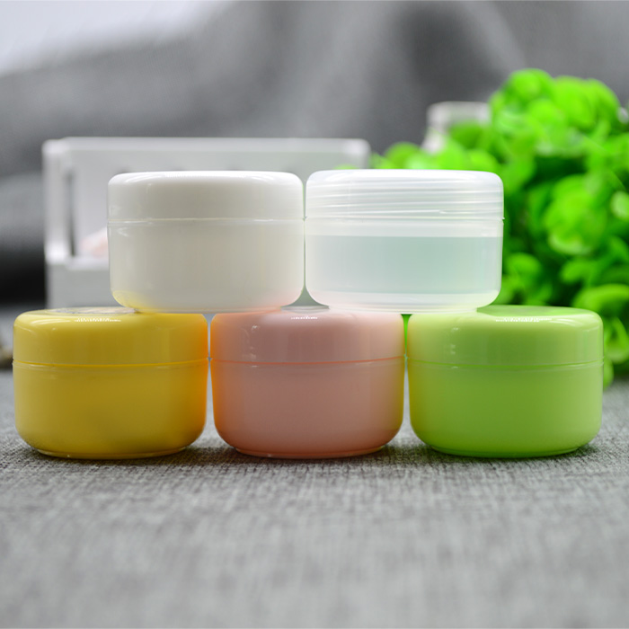 Free Shipping 1000 pcs 20 Gram Plastic Jar With Lid Cosmetic jars Empty Cosmetic Containers, Sample Containers Cream Jars