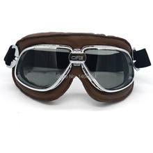 84f796c420a44 2017 Óculos de Proteção Da Motocicleta Retro Vintage Gafas Motocross Off  Road Moto Cruiser steampunk goggle Óculos Lente Fumaça .