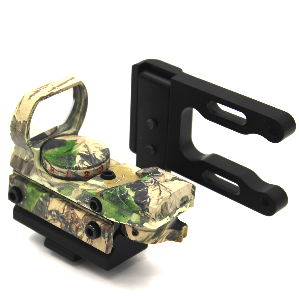 Mount&Holographic 4 Reticle Reflex Red Green Dot Laser scope Sight  Hunting Bracket FOR Compound Bow Recurve Bow tactical holographic red green dot reflex 4 reticle sight scope w 20mm rail mount for hunting