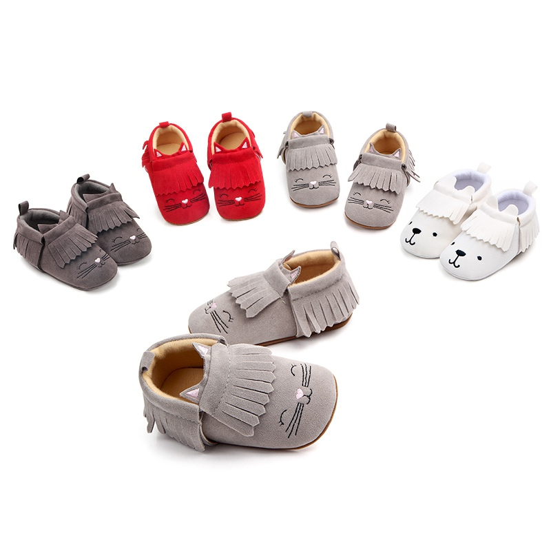 Newborn Baby Girls Boys Shoes First Walkers 2018 Spring Autumn Infant Moccasins PU Leather Cute Kids Toddler Soft Shoes