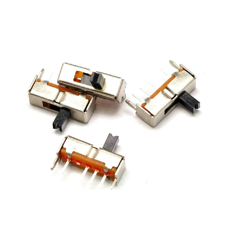 30pcs Mini Slide Switch 3 Position 4P 1P3T Panel Mount Handle High 4mm Latching Toy Switch SS-13D07