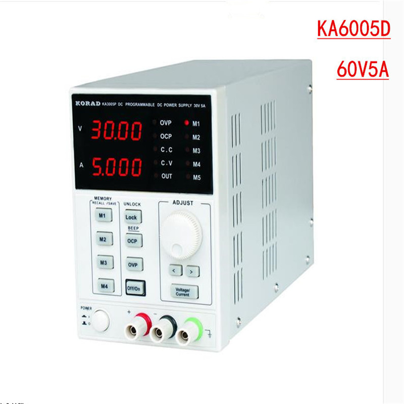 KORAD KA6005D -Precision Variable Adjustable 60V, 5A DC Linear Power Supply Digital Regulated Lab Grade