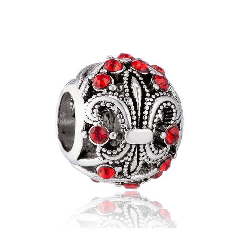 Hot Selling Crystal Bear Moon Music Symbol Windmill Bear Paw Heart Beads Fit Original Pandora Charms for Women DIY Jewelry