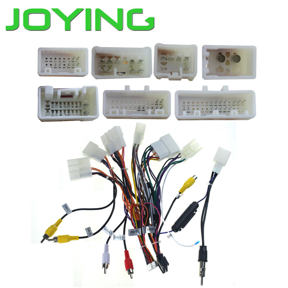 Toyota Stereo Wiring Harness Adapter Basic Guide Diagram Radio Joying Cable For Only Android Rh Aliexpress Com Speaker Adapters Aftermarket