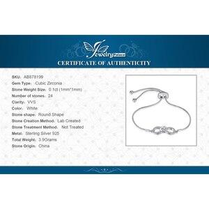 Image 5 - JewelryPalace Infinity Cuore 0.1ct Cubic Zirconia Regolabile Bracciale In Argento Sterling 925 Catena Regolabile Donne Braccialetti con ciondoli