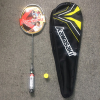 Kawasaki Badminton Rackets Carbon Aluminum Padel Raquete With Bag String Overgrip For Beginers Sports Training Accessories 3U