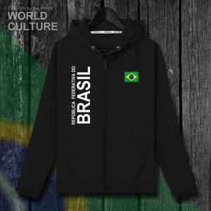 Image 2 - Brazil Brasil BRA Brazilian BR men zipper fleeces hoodies winter jerseys men jackets and nation clothes country sweatshirt coat