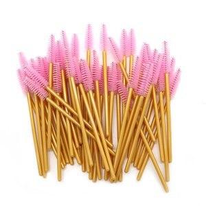 Image 3 - 1000 stücke Einweg Mascara Wands Applikator Groß Wimpern Verlängerung Pinsel Augenbraue Pinsel Make up Tools für Frauen Zubehör