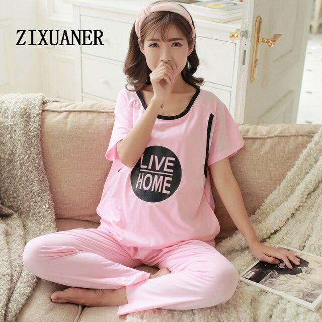 bea242a05 ZIXUANER Camisones Pijamas Cortos para mujeres Embarazadas Lactancia de  Enfermería de Maternidad ropa de Dormir De
