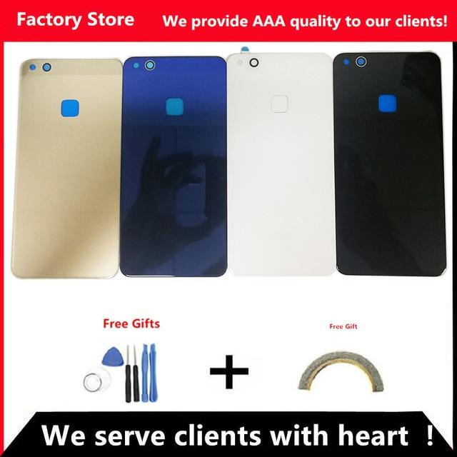 Q & Y QYJOY Pin Trở Lại Bìa Đối Với Huawei P10 Lite Cửa Trường Hợp Đối Với HUAWEI P10 Lite Nhà Ở Thay Thế + trở lại Máy Ảnh Glass Ống Kính Trường Hợp