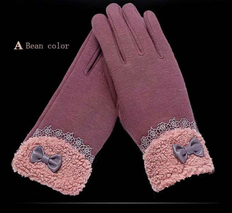 NIUPOZ Fashionable Women Touch Screen Gloves for Winter Made of Warp Knitted Velvet Material including Warm and Windproof Property 10