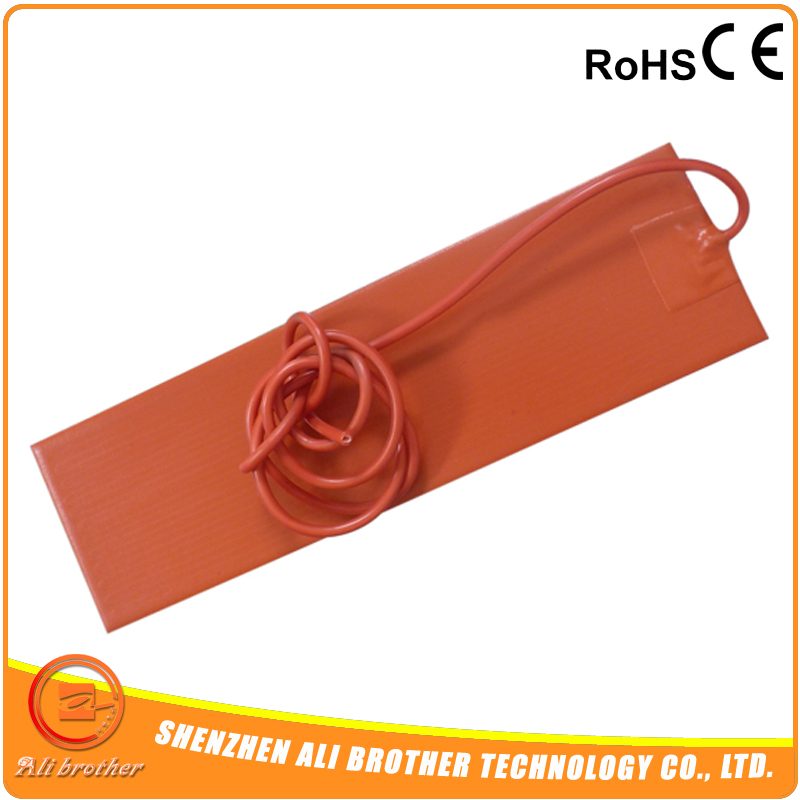 Flexible 200 X 500 Mm 220v 500w Silicone Heating Band Silicone Rubber Heater Pad With 100 K Thermistor Adhesive Back