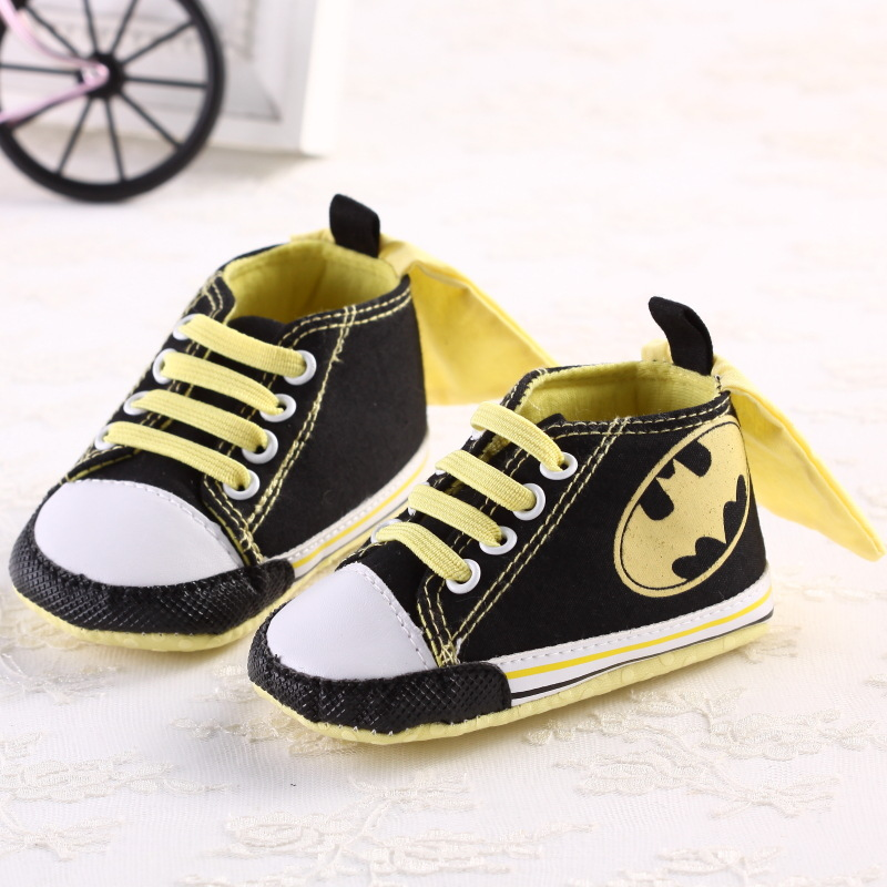Cartoon Batman Canvas Baby Boys Casual Shoes Kids Footwear Toddler Baby Sneakers Crib Babe First Walkers 0-1T DS9
