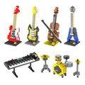 Instrumento Musical Mini bloques de Construcción LOZ DIY Modelos de Guitarra Bass Drum Kit Teclado Violín Artesanal de Regalo Presente