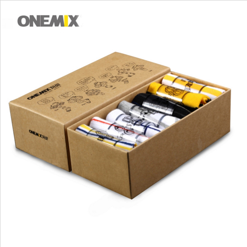 onemix Official Store men's running socks pure cotton weekly socks 7 pairs/lot for 7 days wearing for outdoor jogging walking trekking ship on random