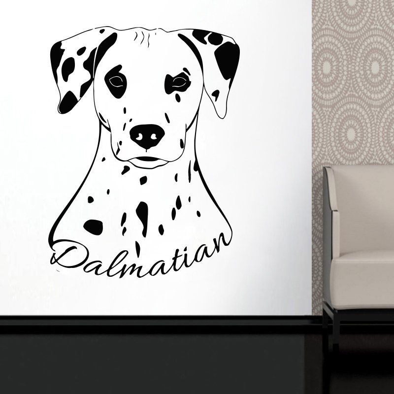 dalmatian animals wall sticker cute dog vinyl wall decals home pet