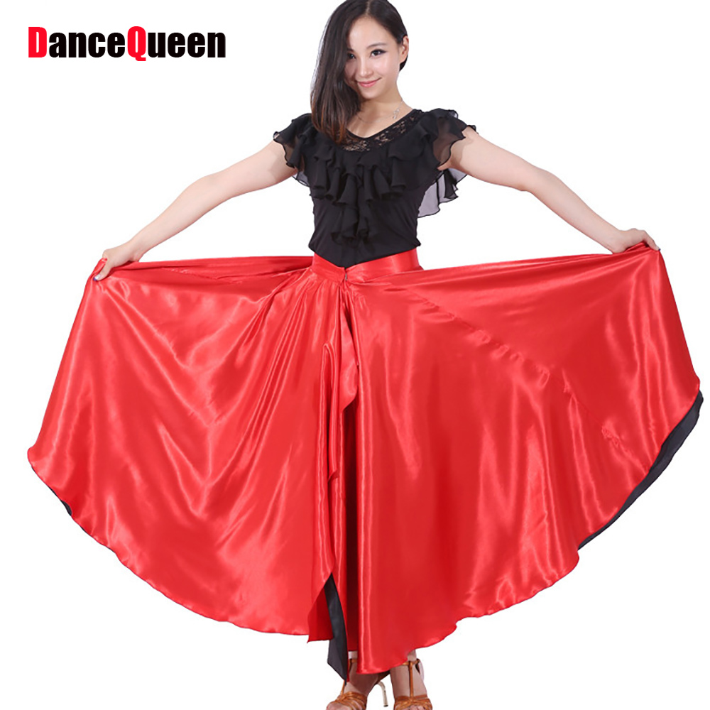 Latin Sexy Latin Dance Skirt 360 Degree Spanish Showing Spanish Belly Flamenco Circle Swing Opening Paso Double/bubble Costumes Y10487