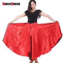 Sexy Latin Dance Skirt 360 Degree Spanish Showing Spanish Belly Flamenco Circle Swing Opening Paso Double/Bubble Costumes Y10487