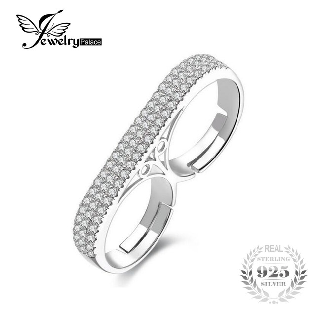 JewelryPalace Fashion 1.3ct Created Cubic Zirconia  Ring Set Genuine Pure 925 Sterling Silver 2016 New Fine Jewelry For Women