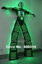 LED robot costume /David Guetta LED robot suit/ illuminated kryoman Robot