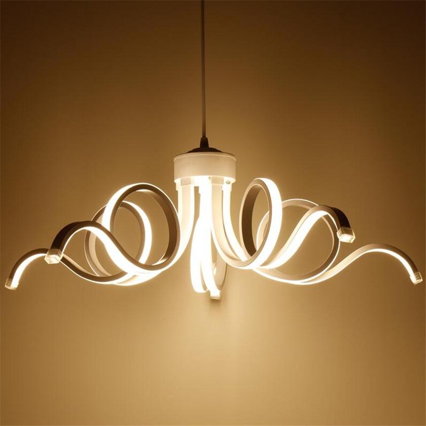 Wave acrylic Led Modern chandelier Lighting Lustre Lamparas Colgantes Lamp for Living Room luminaria hanging Light Chandeliers