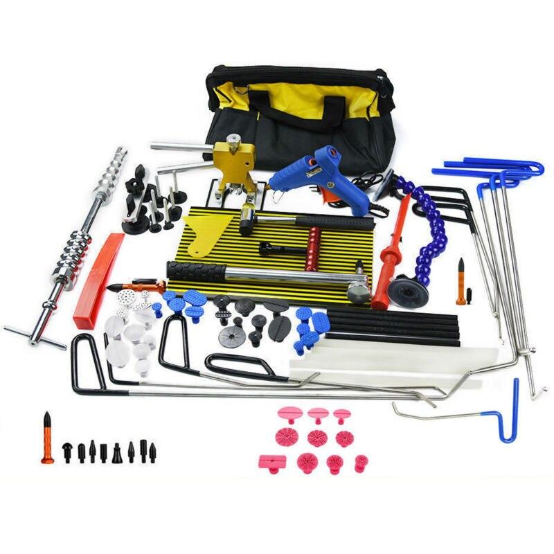 Furuix Varas Ganchos Dent Extrator Dent Lifter lamp Luz para Slides Martelo Carro Dent Removedor De Cola Kit Remoção vara Varas de Granizo conjunto de ferramentas