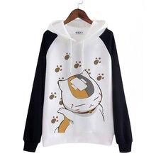 לשני המינים גברים נשים מעיל חתול Nyanko סנסאי אנימה נאצאם Yuujinchou קפוצ ון כותנה חולצות Cosplay תלבושות