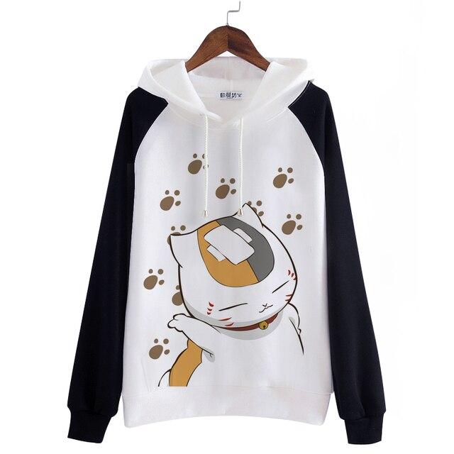 Unisex mężczyźni kobiety Anime natsume yuujinchou bawełniana bluza z kapturem Nyanko Sensei kot płaszcze dresowe Cosplay kostiumy