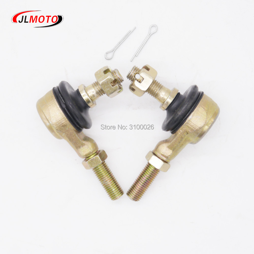1 Pair M10-M10 Tie Rod End Kits Ball Joint Fit For China ATV 50cc 110cc 150cc 200cc 250cc 300cc Go Kart Karting Quads Bike Parts