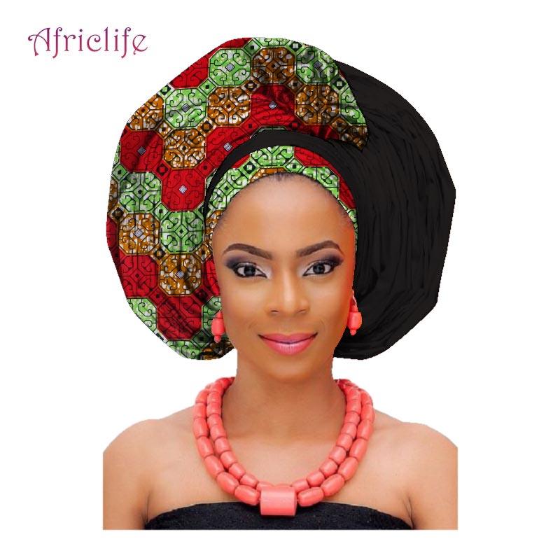 National Decorative Scarf Shawls Women African Head Wrap African Traditional Fashion Wax Printed Ankara Cotton Headscarf AF002