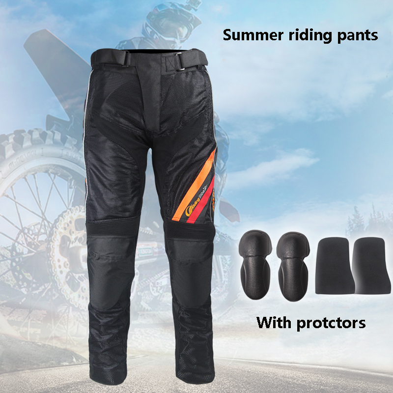 Riding Tribe Motorcycle Protective Pants Motorbike Riding Mesh Trousers EVA protectors Racing gear Pants HP 10