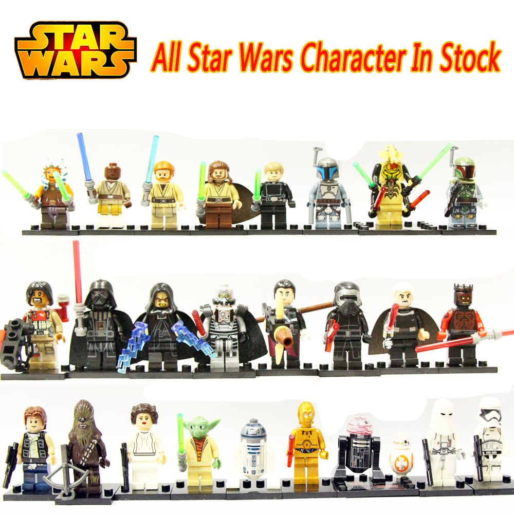 Star Wars Figures Building Blocks Compatible With LegoINGly Jedi Chewbacca Han